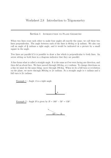 Trigonometry Worksheet