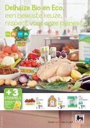 Delhaize Bio en Eco, een bewuste keuze, respect voor onze planeet.