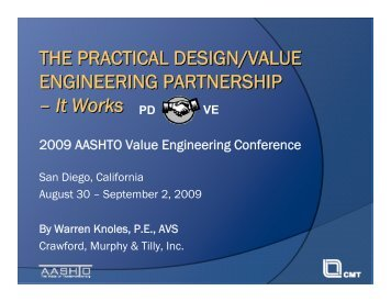 The Practical Design/Value Engineering Partnership - It Works