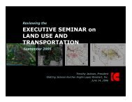 EXECUTIVE SEMINAR on LAND USE AND TRANSPORTATION