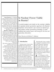 Is Nuclear Power Viable in Russia? - Clemson University