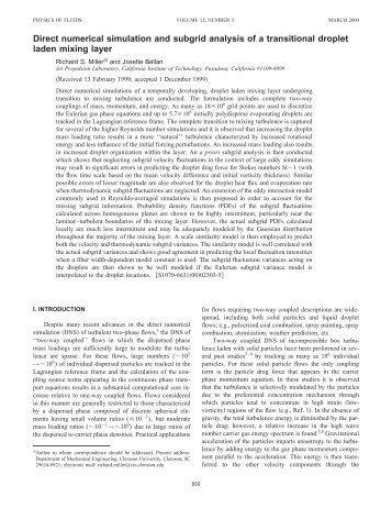 Direct Numerical Simulation and Subgrid Analysis of a Transitional ...