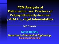 Multi Length-Scale Modeling of Deformation and Fracture - Clemson ...