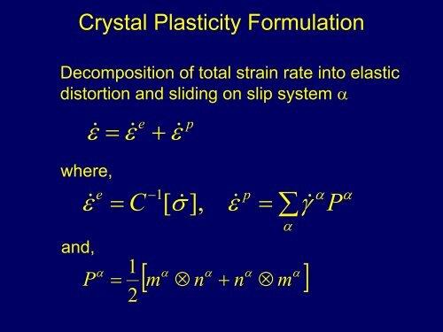 Discrete Dislocation Modeling (Presentation) - Clemson University