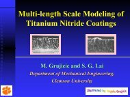 Multi-length Scale Modeling of Titanium Nitride Coatings - Clemson ...