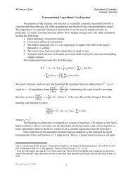 The Transcendental Logarithmic Cost Function - Clemson University