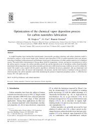 Optimization of the chemical vapor deposition process for carbon ...