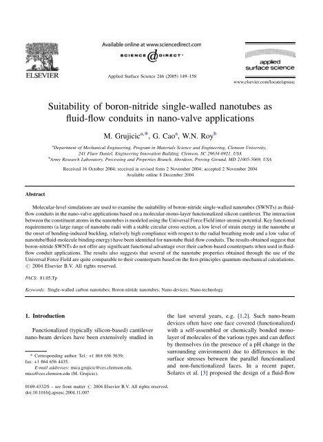 Suitability of boron-nitride single-walled nanotubes as fluid-flow ...