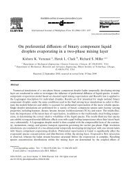 On preferential diffusion of binary component liquid droplets ...