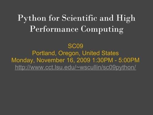 Tutorial slides (PDF) - Clemson University