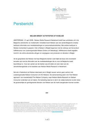 Nielsen breidt activiteiten uit in België