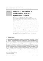 Integrating the Lambert W Function to a Tolerance Optimization ...