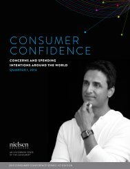 Global consumer confidence indexed at 93 in the first ... - Nielsen