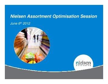 Nielsen Assortment Optimisation Session