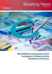 New ACNielsen survey points to price convergence in Europe since ...
