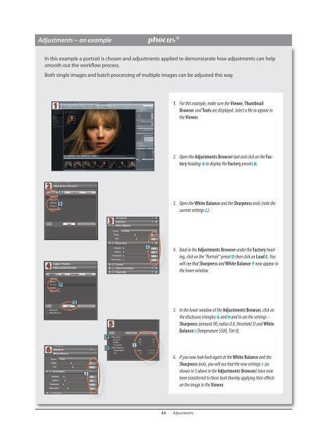 Adjustment Browser