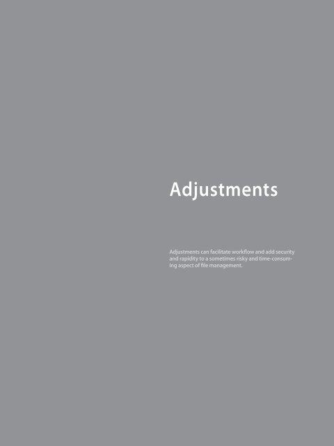 Basic Adjustments