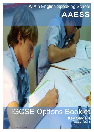 AAESS IGCSE Options Booklet - Al Ain English Speaking School ...