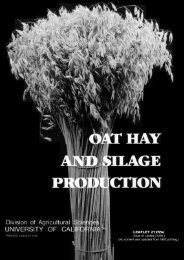 Oat Hay and Silage Production - University of California Agricultural ...