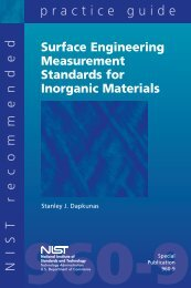 Surface Engineering Measurement Standards for Inorganic ... - CCP14