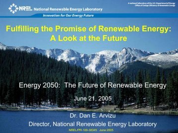 Fulfilling the Promise of Renewable Energy: A Look at the ... - NREL