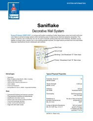 SANIFLAKE® Decorative Wall System - General Polymers
