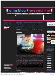!! omg blog /omg social club !! - Luna The Fashion Kitty