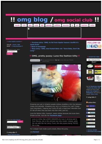 !! omg blog /omg social club !! - Luna The Fashion Kitty