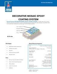 Decorative Mosaic epoxy coating systeM - General Polymers