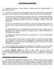ECHS REFERRAL PROCEDURE 1. Reference ... - Indian Army