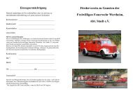 Förderverein zu Gunsten der Freiwilligen Feuerwehr Wertheim, Abt ...