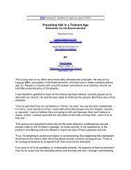 Preaching Hell in a Tolerant Age - Third Millennium Ministries