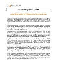 Pressemitteilung vom 19. Juli 2012 Junge Wähler ... - aproxima
