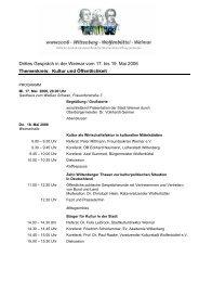 Erstes Gespräch in Wolfenbüttel - Weimar
