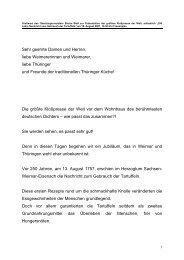 Grußwort des Oberbürgermeisters Stefan Wolf zur ... - Weimar