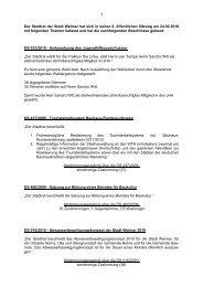 Der Stadtrat der Stadt Weimar hat sich in seiner 8. öffentlichen ...