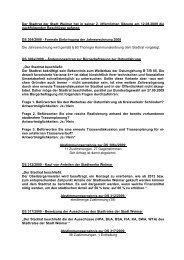 Der Stadtrat der Stadt Weimar hat in seiner 2. öffentlichen Sitzung ...