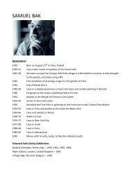 samuel bak - Center for Holocaust & Genocide Studies - University ...