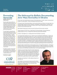 Spring 2009 - Center for Holocaust & Genocide Studies - University ...