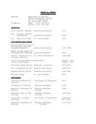 THOMAS A. EMMERT Curriculum Vitae Address - University of ...