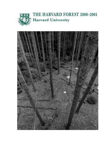 2001 - Harvard Forest - Harvard University