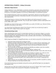 International Student College Information.pdf - Interlochen Arts ...