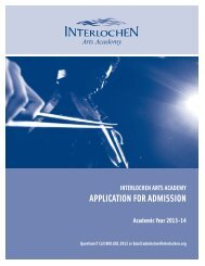 download and mail - Interlochen Arts Academy High School ...