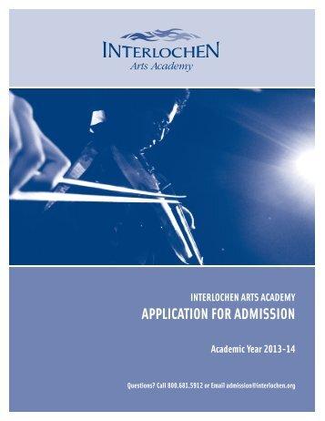 download and mail - Interlochen Arts Academy High School ...