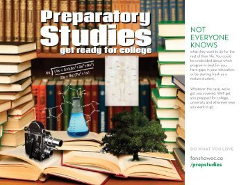 Preparatory Studies - Fanshawe College