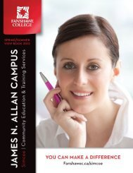 Table of Contents - Fanshawe College