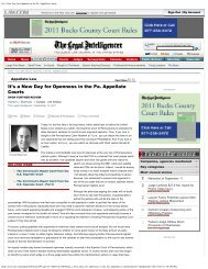 It's a New Day for Openness in the Pa. Appellate Courts