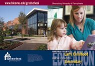 Elementary Early Childhood - Bloomsburg University