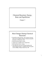 Chemical Reactions: Energy, Rates and Equilibrium Heat Changes ...
