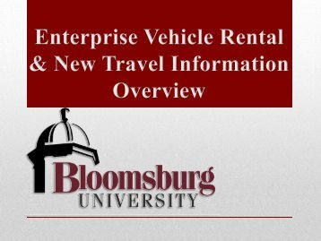 Rental Cars Instructions - Bloomsburg University